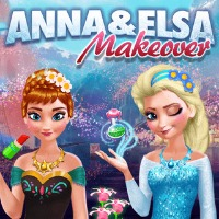 Anna and Elsa Makeover Play